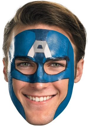 Captain America Face Tattoo