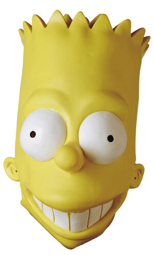 Bart Simpson Vinyl Oversized Adult Mask