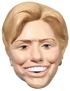 Hillary Clinton Vinyl Adult Mask