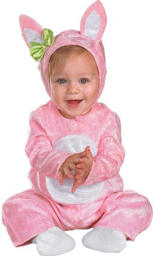 Fluffy Pink Bunny Baby Costume