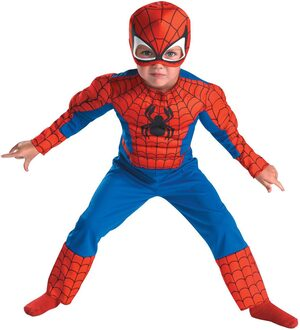 SpiderMan Muscle Chest Toddler Costume