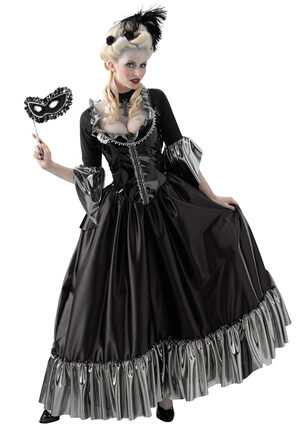 Adult Masquerade Ball Queen Gothic Costume