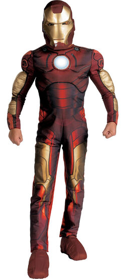 Iron Man Light Up Muscle Chest Kids Costume