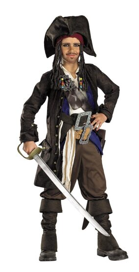 Captain Jack Sparrow Prestige Pirates of the Caribbean Kids Costume