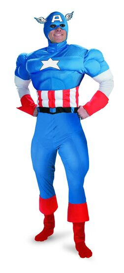 Captain America Muscle Chest Adult Superhero Costume