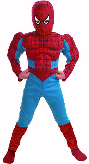 Kids Muscle Chest Spiderman Costume