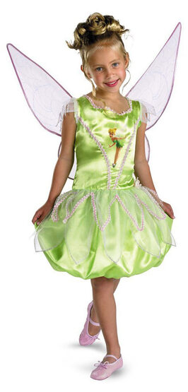 Girls Deluxe Disney Tinkerbell Costume