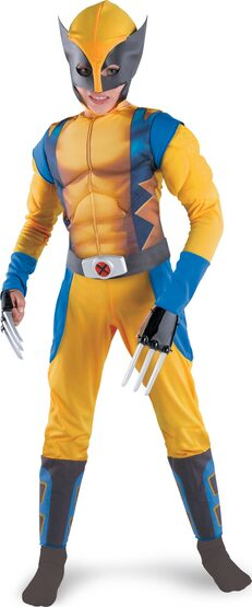 Kids Wolverine Muscle Chest Costume