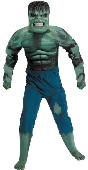Hulk Muscle Chest Deluxe Kids Costume