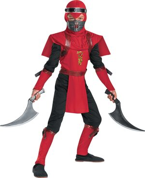 Red Viper Ninja Kids Costume