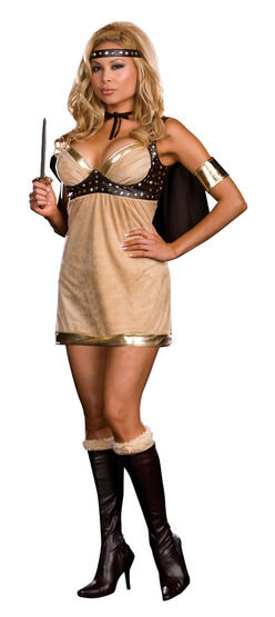 Viking Vixen Sexy Plus Size Costume