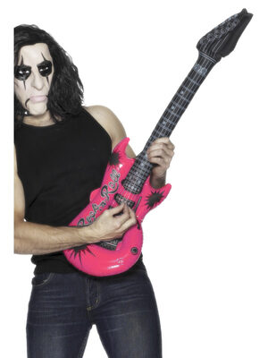 Inflatable Pink Rockstar Guitar