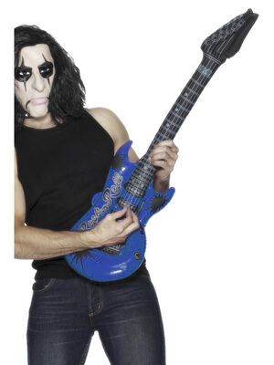 Inflatable Blue Rockstar Guitar