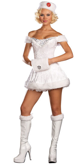White Russian Beauty Sexy Costume