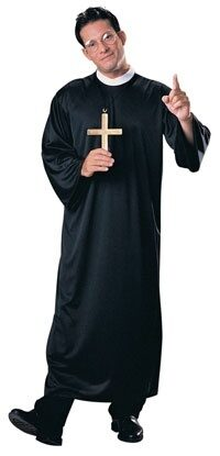 Mens Religious Adult Priest Costume