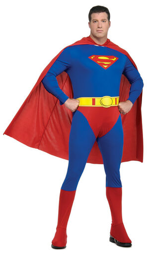 Mens Plus Size Superman Costume