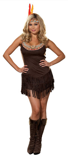 Pocahottie Sexy Plus Size Indian Costume