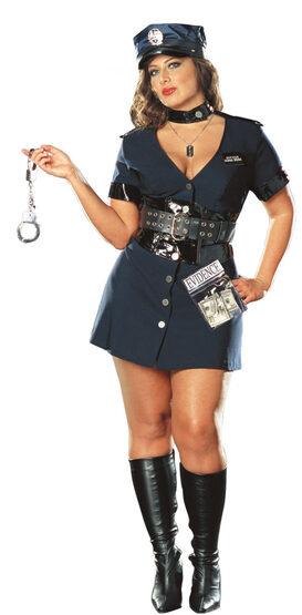 Corrupt Cop Sexy Plus Size Police Costume