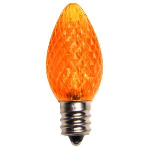 C7 Amber / Orange LED Light Bulbs