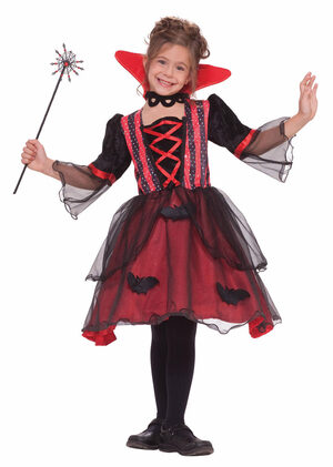 Girls Magical Vampiress Kids Costume