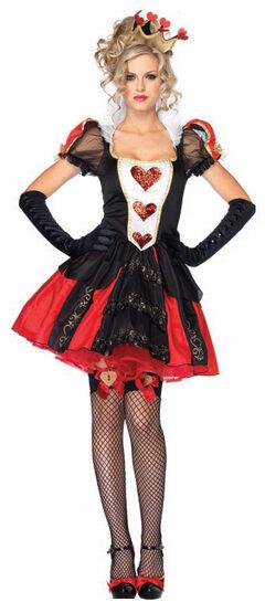 Sexy Dazzling Dark Queen of Hearts Costume