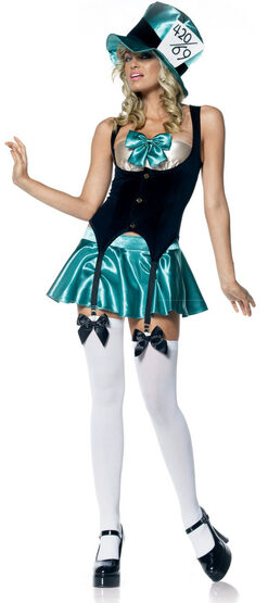 Sexy Tea Party Hostess Mad Hatter Costume
