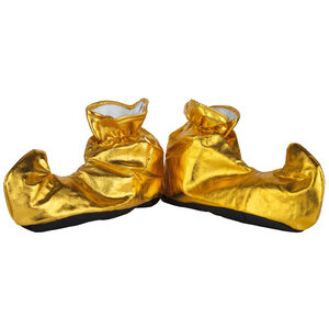 Gold Elf Holiday Shoe Covers