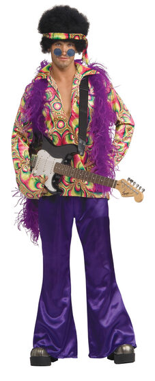 Purple Daze Adult 70s Costume