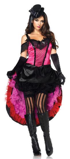 Sexy Highkick Honey Saloon Girl Costume