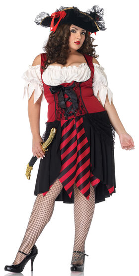 Crimson Pirate Plus Size Costume