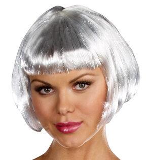 Silver Robot Wig