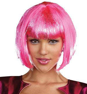 Hot Pink Robot Wig