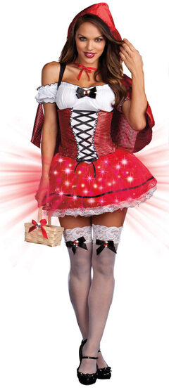 Sexy Little Red De-Light Riding Hood Costume