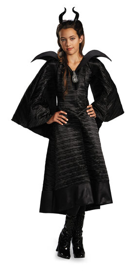 Disney Maleficent Black Gown Kids Costume