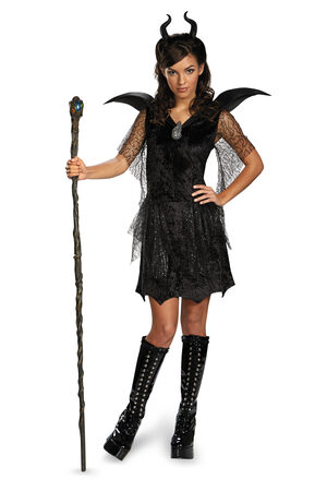Disney Maleficent Black Gown Tween Kids Costume