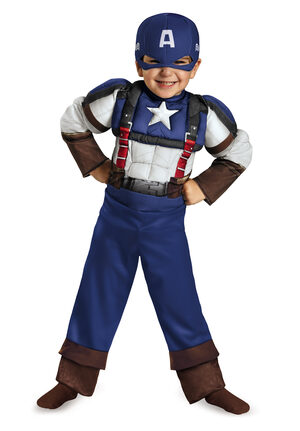 Retro Captain America Toddler Kids Costume