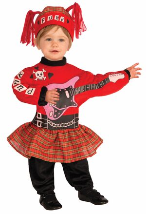 Girls Punk Rockstar Baby Costume
