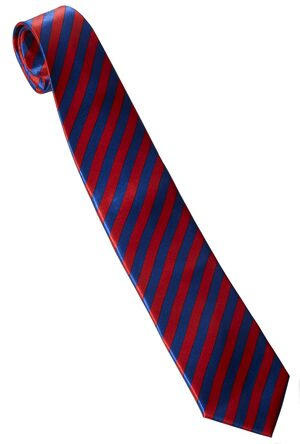 Mens 1920s Blue and Red Striped Tie