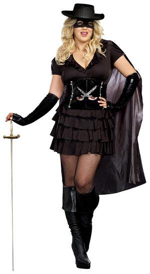 Double Edged Diva Zorro Plus Size Costume