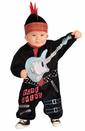 Punk Rocks Rockstar Baby Costume