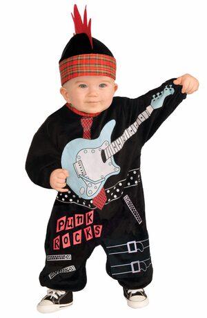 Punk Rocks Rockstar Baby Costume