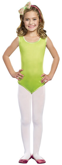 Lime Ballerina Leotard Kids Costume