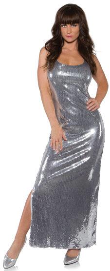 Sexy Drama Silver Sequin Costume