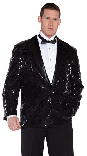 Black Sequin Formal Jacket Adult Costume