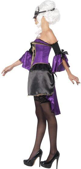 Sexy Midnight Baroque Masquerade Gothic Costume