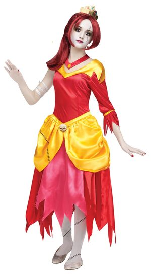 Zombie Belle Princess Kids Costume