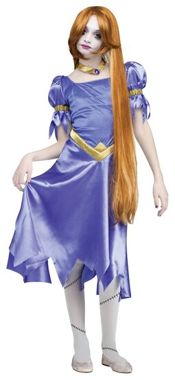 Rapunzel Zombie Princess Kids Costume