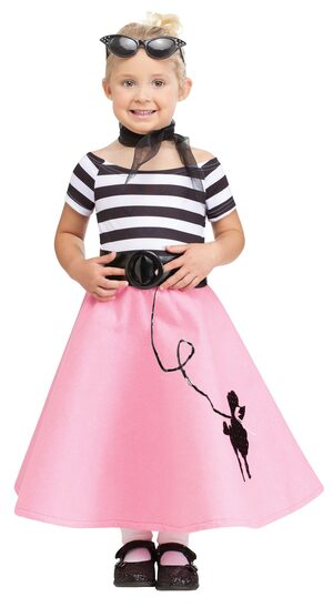 Soda Shop Sweetie 50s Toddler Kids Costume