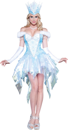 Sexy Sequin Snow Queen Costume