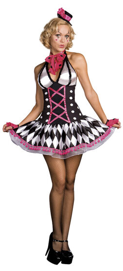 Sexy Harlequin Honey Clown Costume
